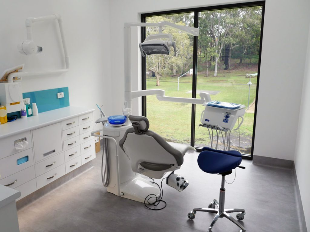 Dental treatment room overlooking Lion's Park