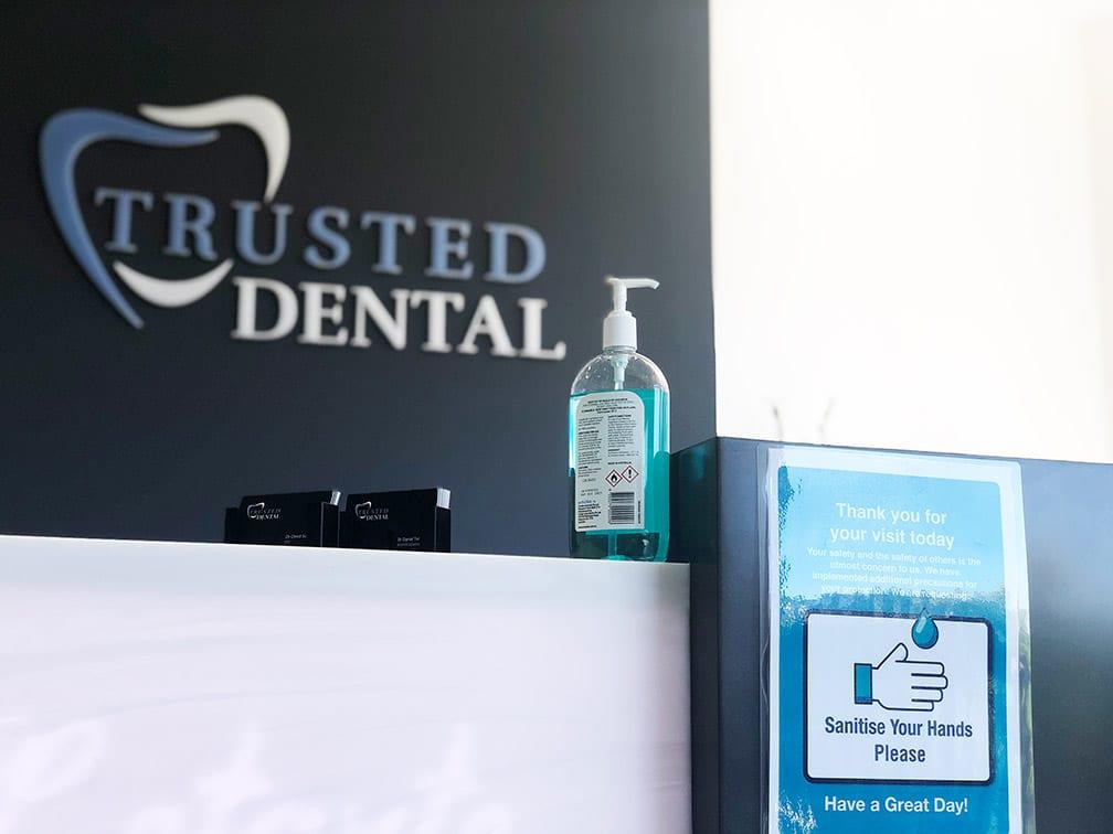 Hand Sanitiser Trusted Dental